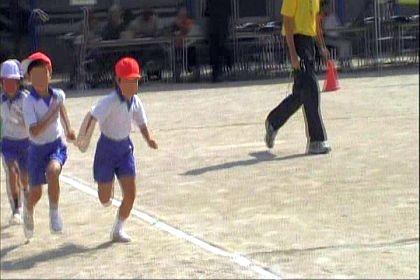 1年生の徒競走