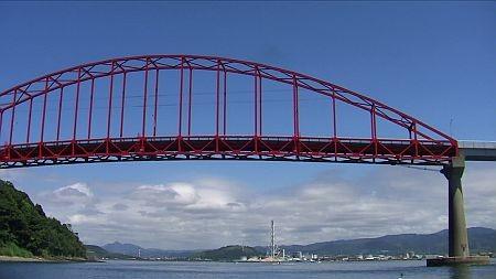 船上から見た笠戸大橋