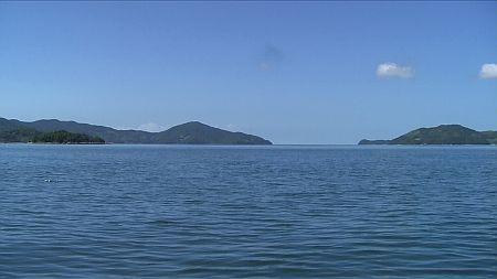 船の上から見た景色