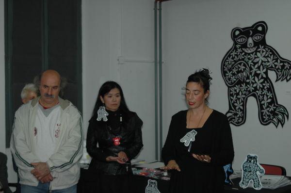 Eftim Eftimoski, Rieko e Monica Gorza