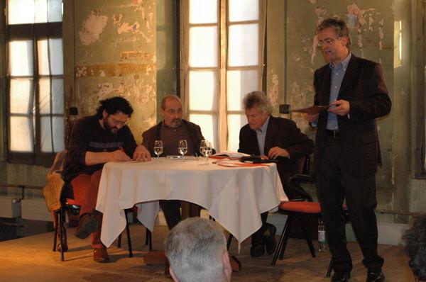Fra Martino Dotta, Domenico Lucchini, Alberto Nessi e Franco Lurà