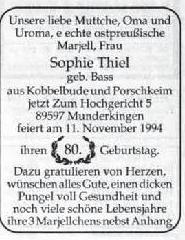 Preußische Allgemeine Zeitung - Familienanzeigen