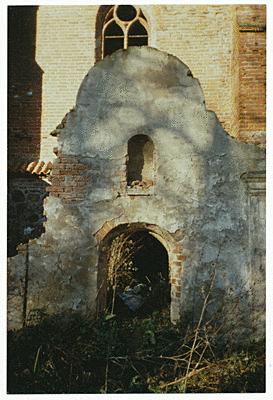 Giebelreste des Eingangsbereiches der zum Haupteingang führte