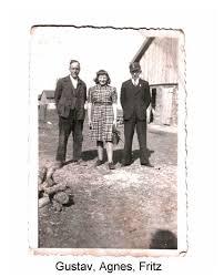 Vlnr. : Gustav MATZ mit Tochter Agnes geb. Waschkau und Neffe Fritz Schardt, Sohn seiner Schwester Therese.
