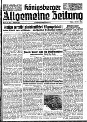 Königsberger Allgemeine Zeitung Ausgaben: Mai-Sept. 1942