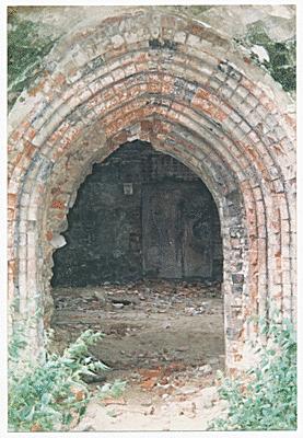 Portal des Haupteinganges, wunderbar erhalten.