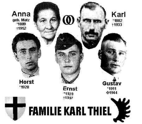 Eine Collage meiner Familie von Rolf Tappeser. Nach den Notizen meines Vaters sollte das Geburtsdatum meines Opas Karl 15.2.1988 lauten.