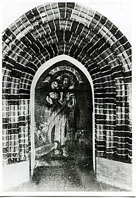 Kirchentür des Seitenschiffes -Haupteingang-