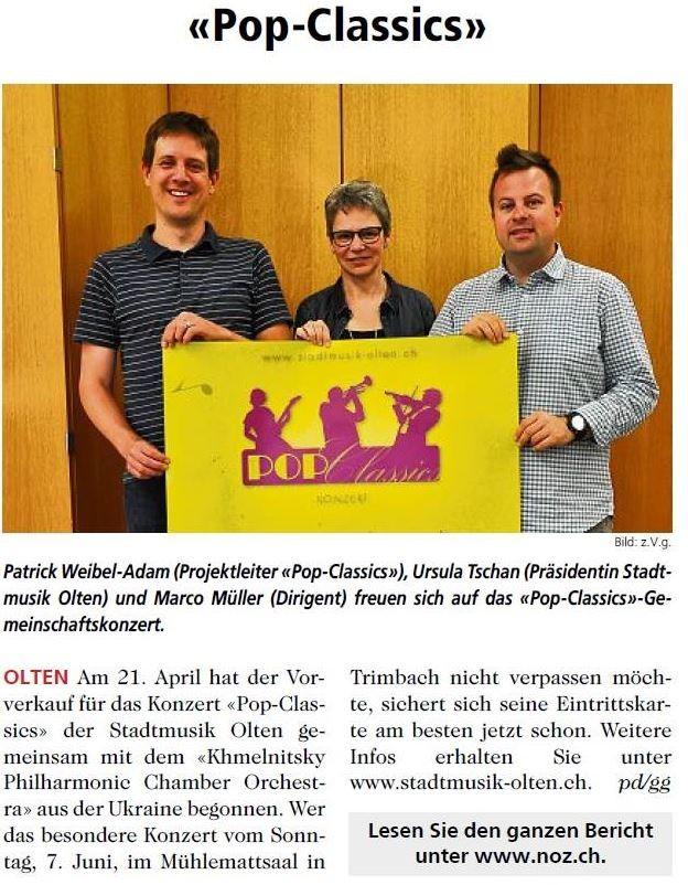 Neue Oltner Zeitung (NOZ), 21.04.2015