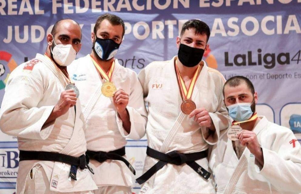 Podium de -100kg del Campeonato de España Senior