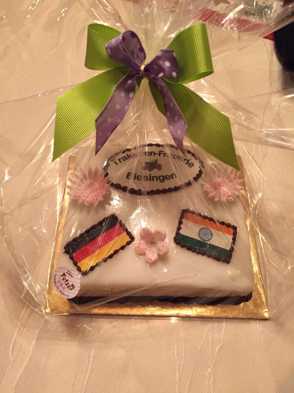 Petit Four mit der Indischen und Deutschen Flagge