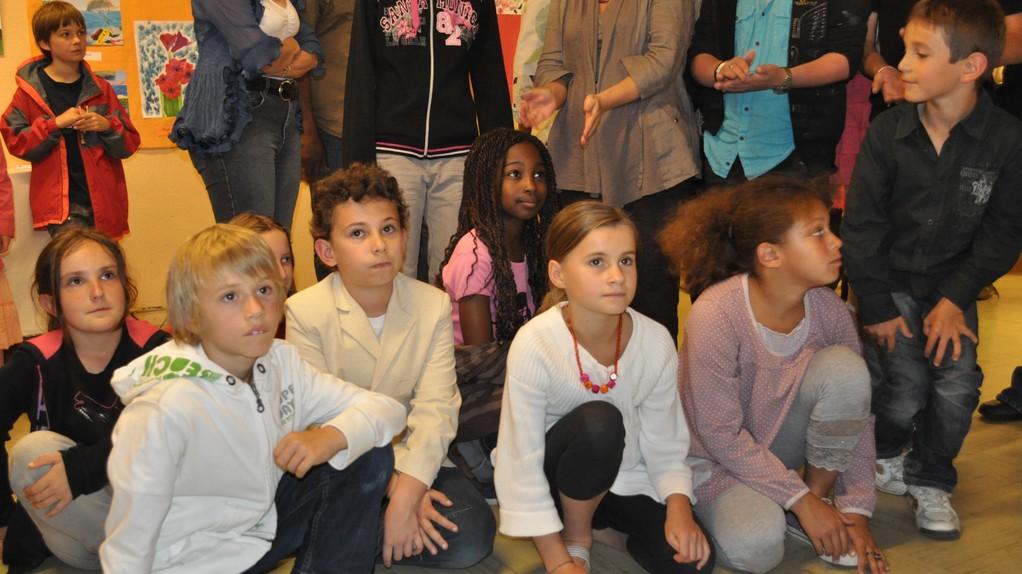 Anaelle, Luka, Gabriel, derrière Antonia, Clelia, Axelle, Quentin