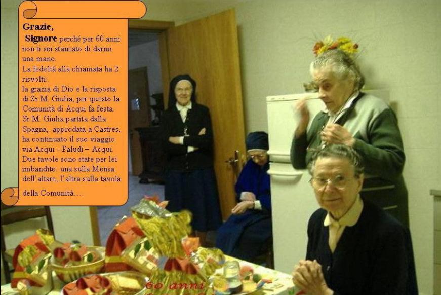 60 anni di Fedeltà di Sr Maria Julia - Acqui Terme