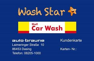 Die Wertkarte für´s Waschen und Saugen
