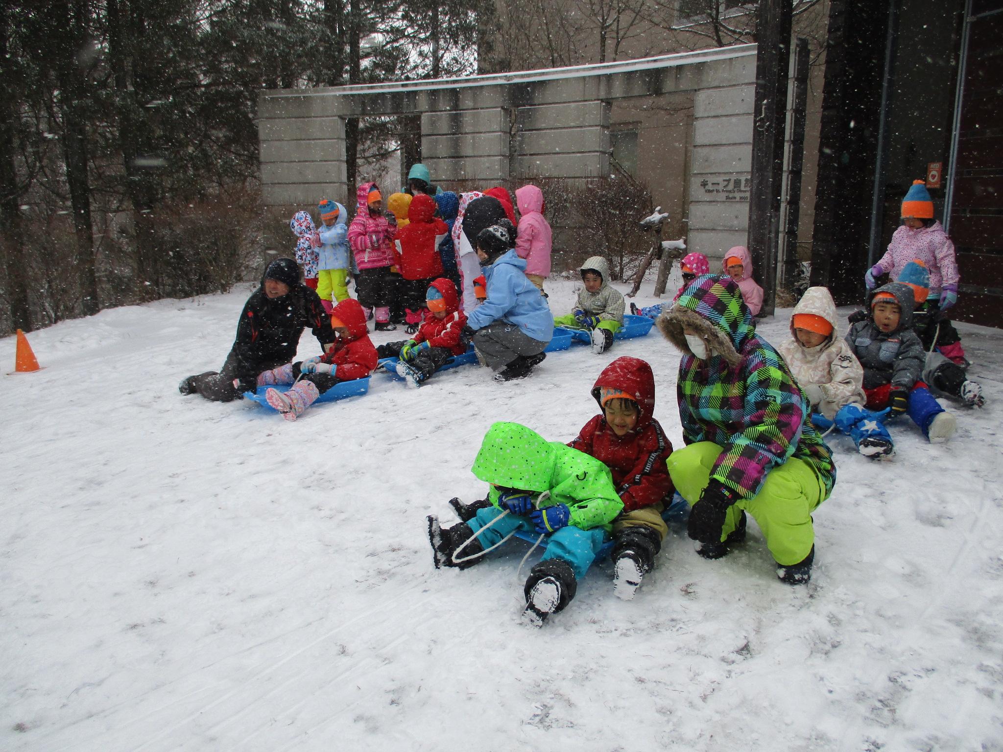 最終日も雪でいっぱい遊んだね