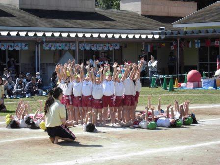 年長組 組立体操4