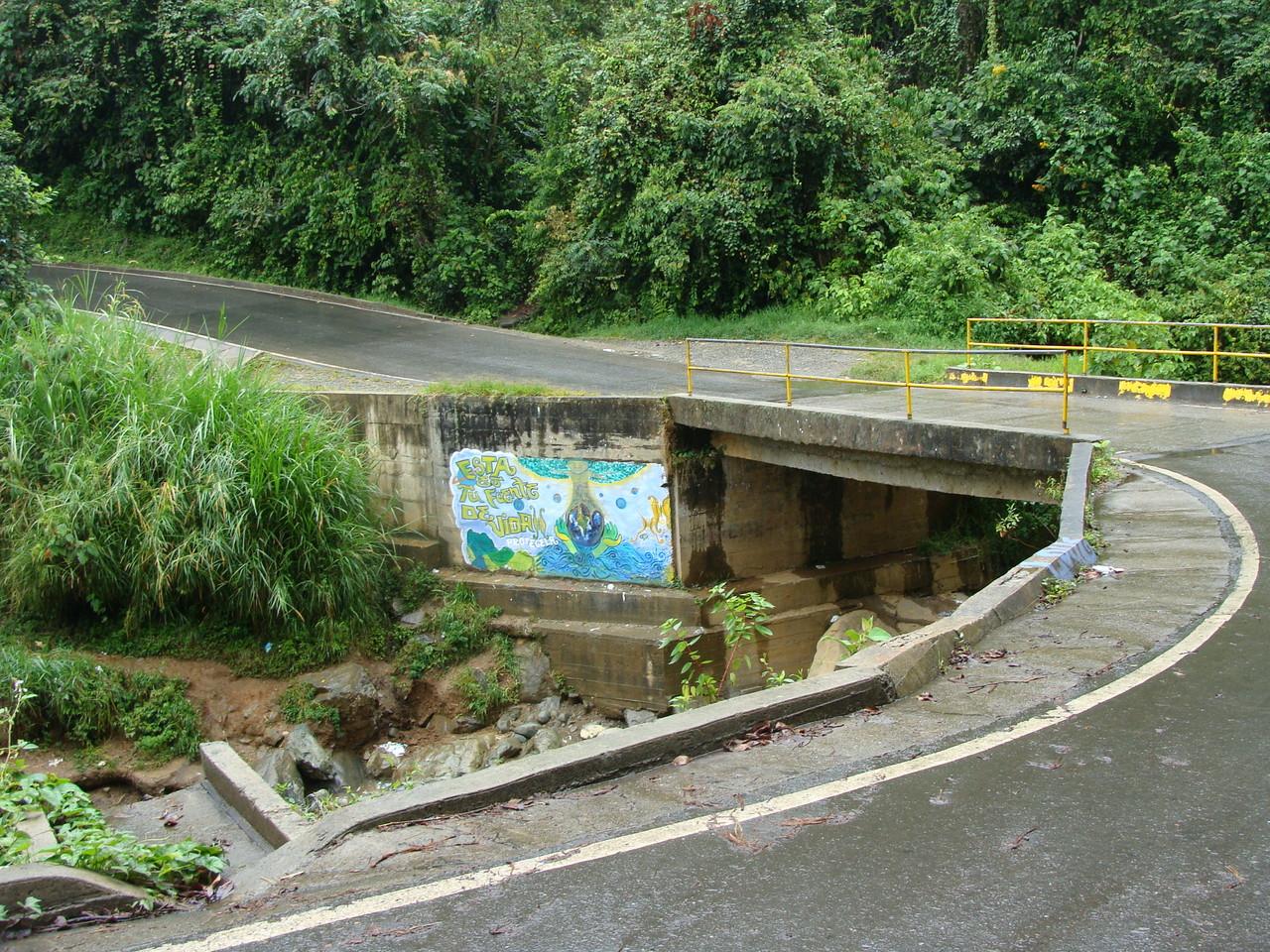 Vía que lleva al corregimiento de la Leonera,  río de Felidia.
