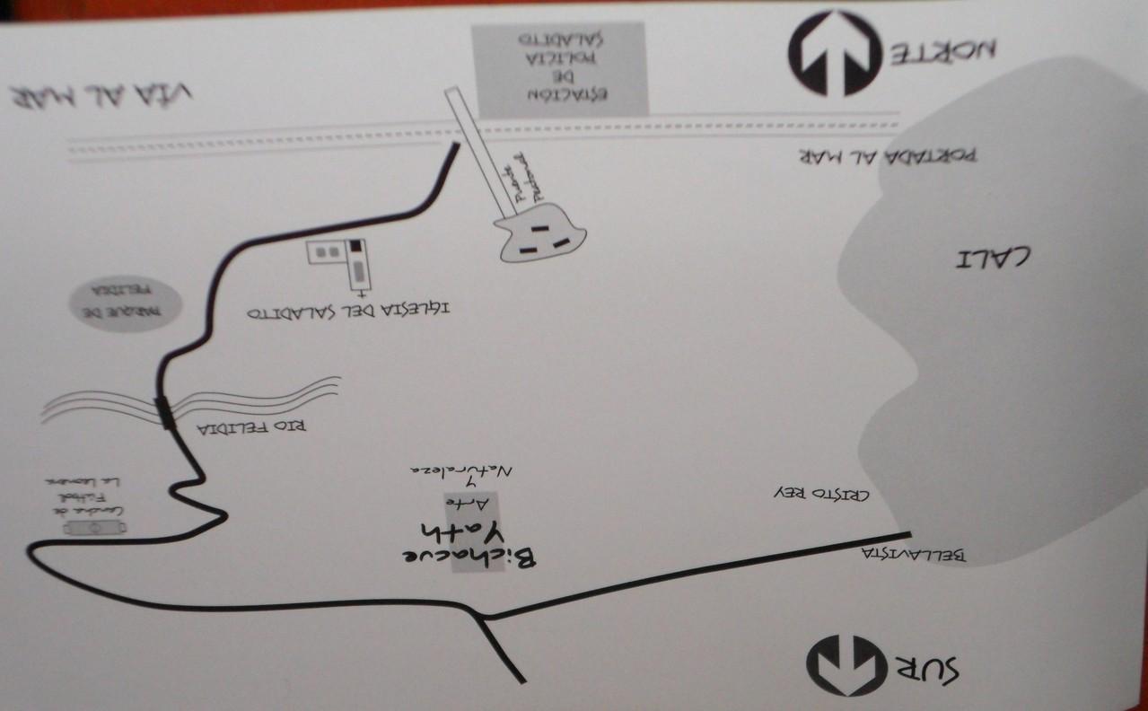 Mapa de ubicación de Bichacue Yath Arte y Naturaleza.