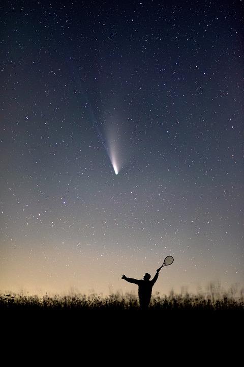 einundzwanzig  - besonderer Stern am Abendhimmel