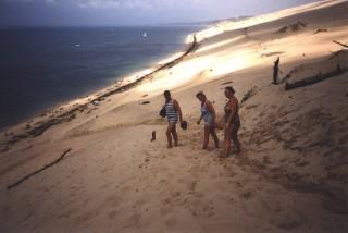Dordogne Sommer 2000 am Strand