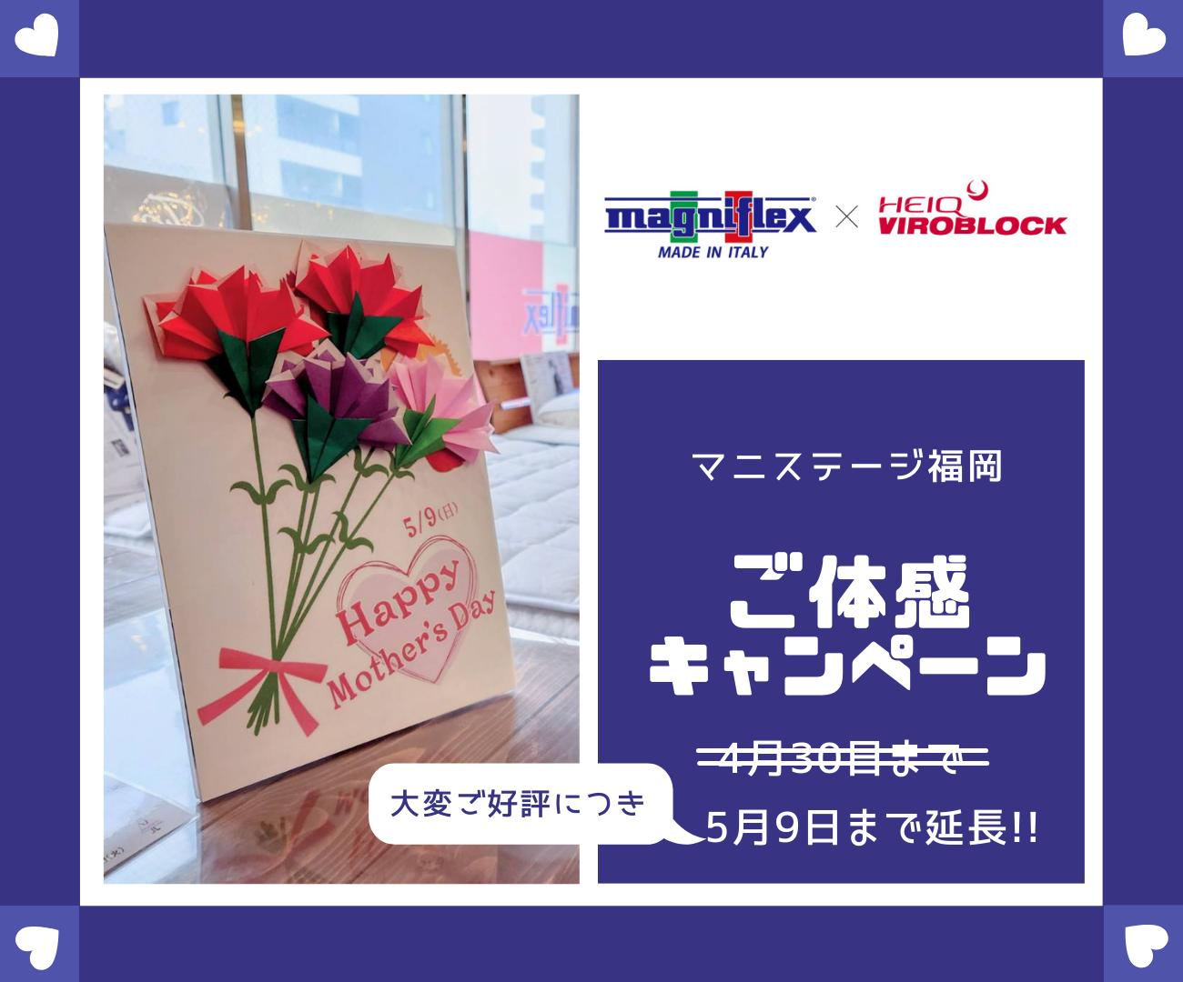 母の日までキャンペーン延長!