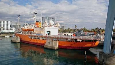 南極観測船「ふじ」 名古屋港にて