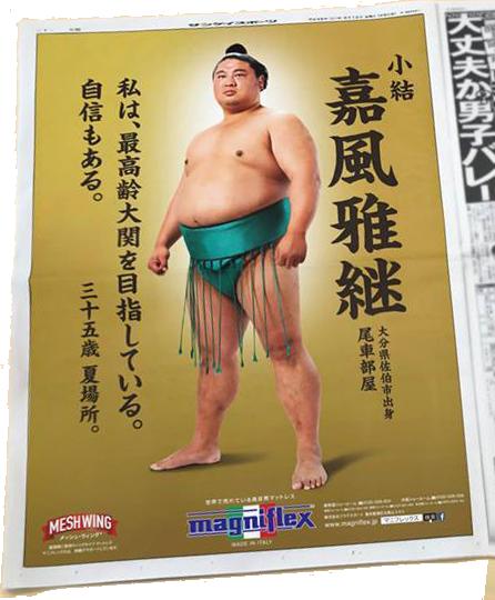 サンケイスポーツ2017.05.12朝刊 嘉風関 夏場所 「最高齢大関を目指している。」