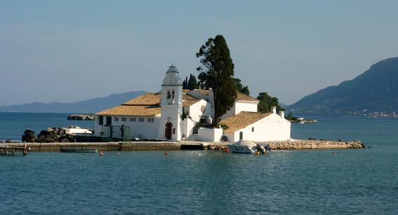 Vlacherna Kloster in Korfu-Stadt