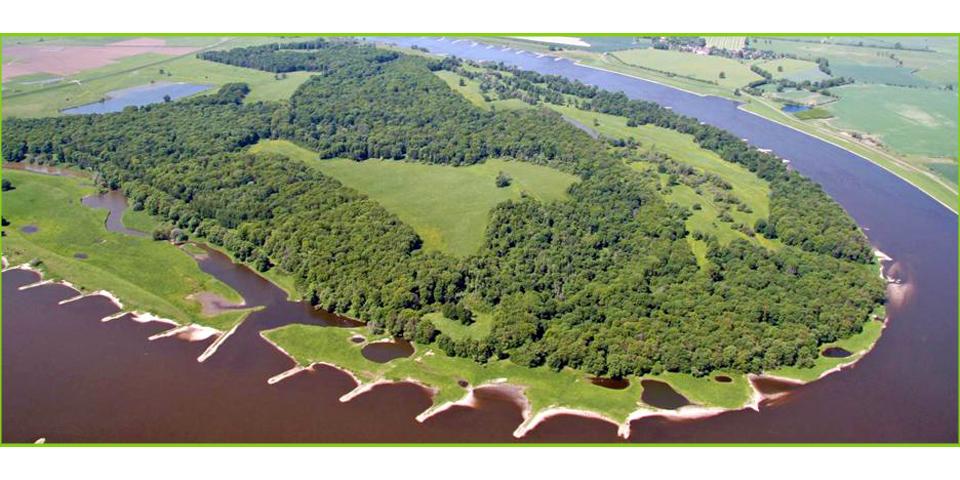 Aland-Elbe-Niederung aus der Vogelperspektive © RANA - Büro für Ökologie und Naturschutz