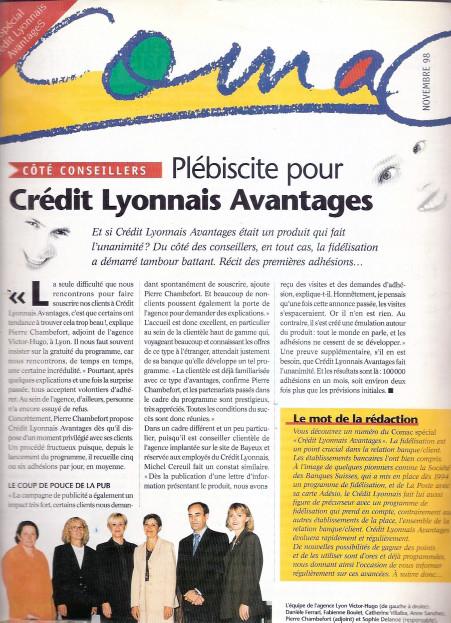 "Crédit Lyonnais | magazine ""Comac"""
