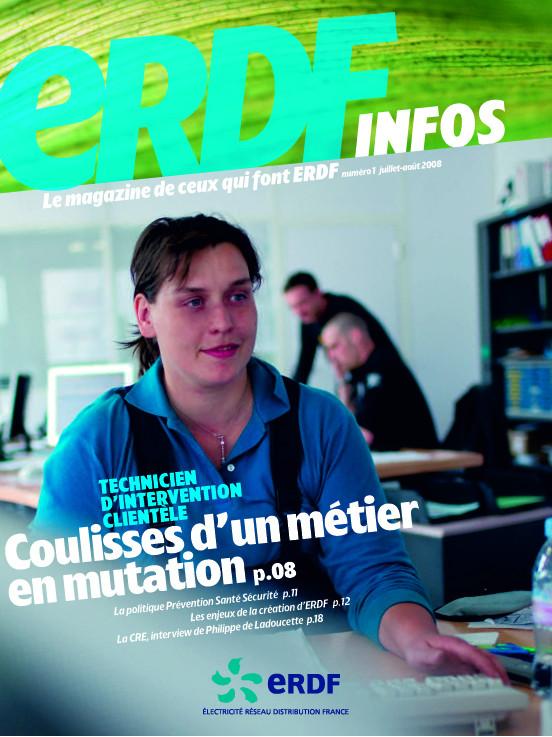 "ERDF Ó magazine interne ""ERDF Infos"""