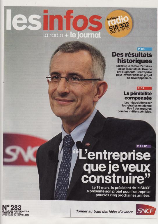 "SNCF | magazine interne ""les Infos"""