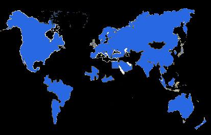 carte des implantations d'AGF en 2008