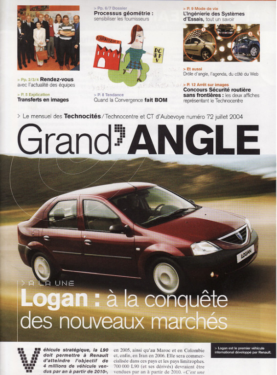 "Renault | magazine interne Technocentre ""Grand'Angle"""