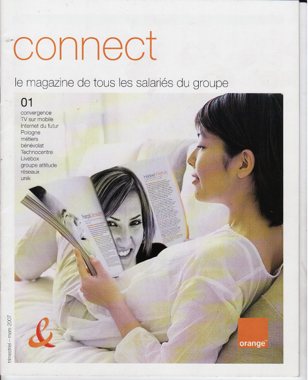 "Orange | magazine interne ""Connect"""