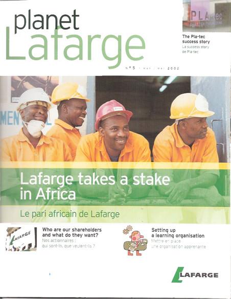 "Lafarge | magazine interne ""Planet Lafarge"""