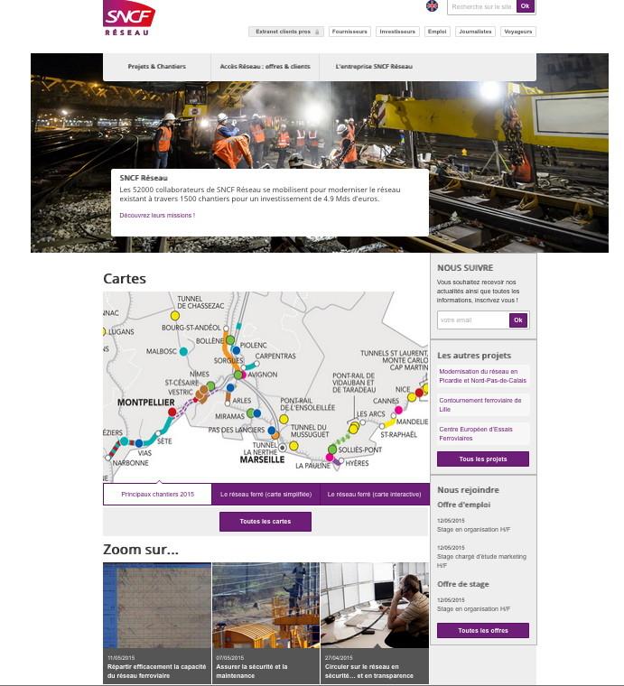 SNCF-Réseau | site Internet