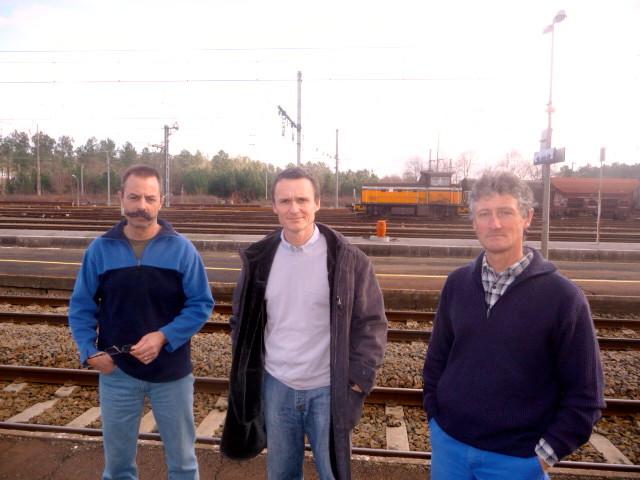 équipe Voie SNCF en gare de Morcenx (Landes) (photo Bruno Cargnelli)