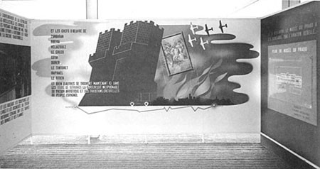 Fotomontaje de Renau con fotografías de Val del Omar. Pabellón España  Exposición París 37
