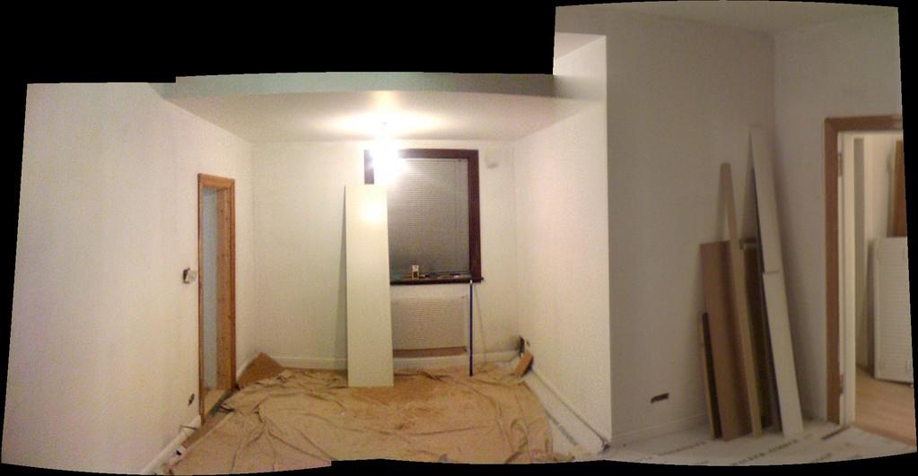New plastered family room