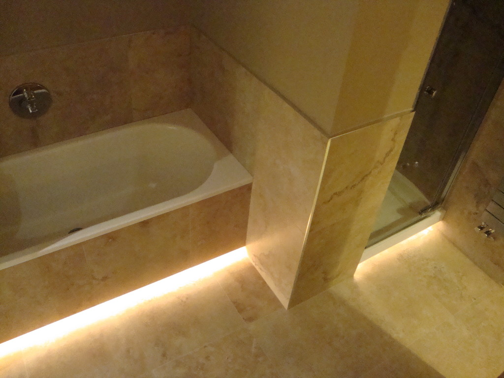 Underlit bath and shower tray