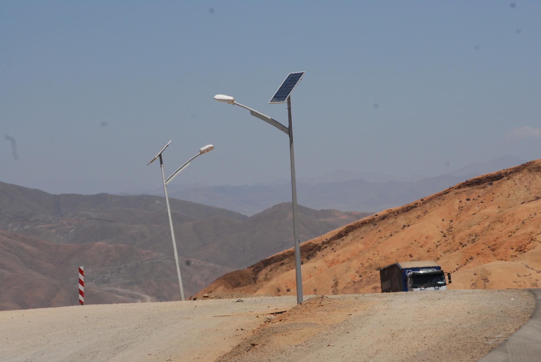 Solarlampen in der Wüste
