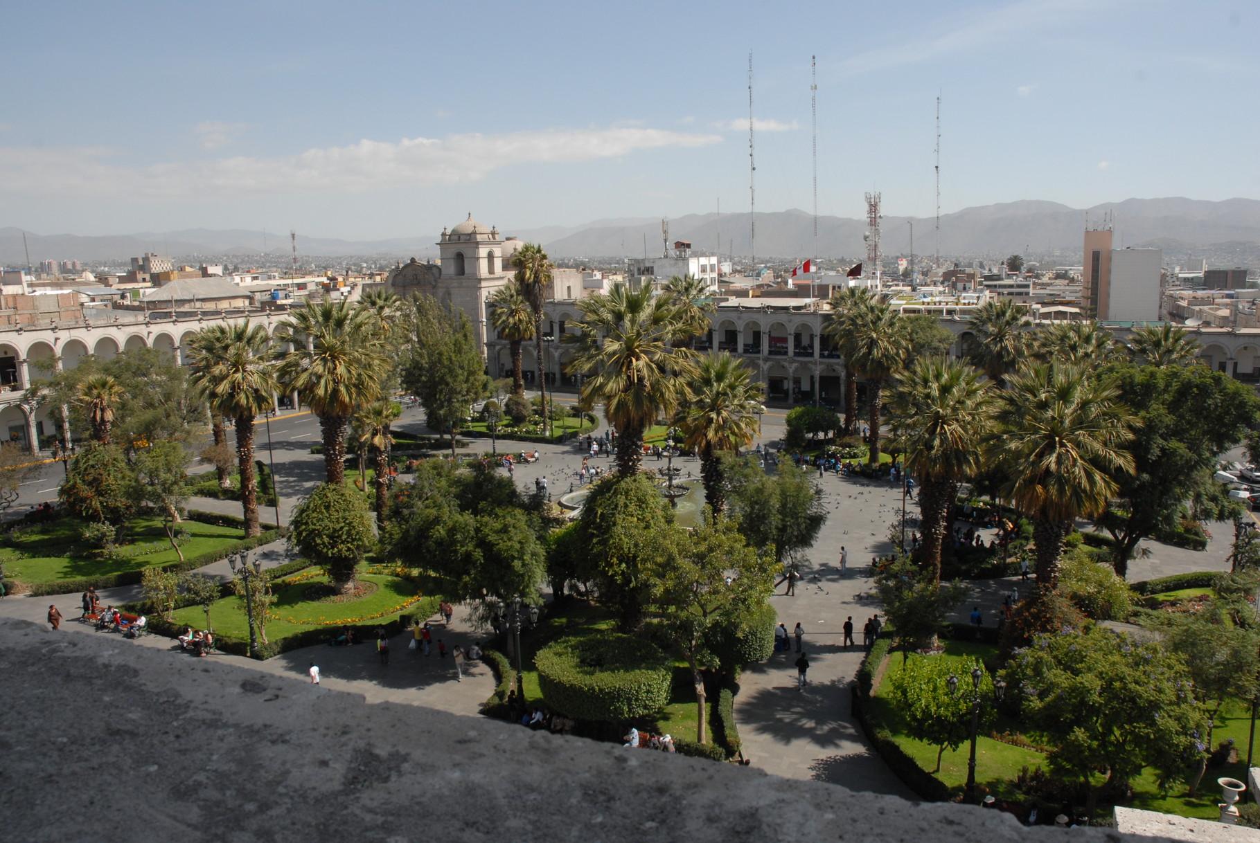 Der Plaza de Armas von oben
