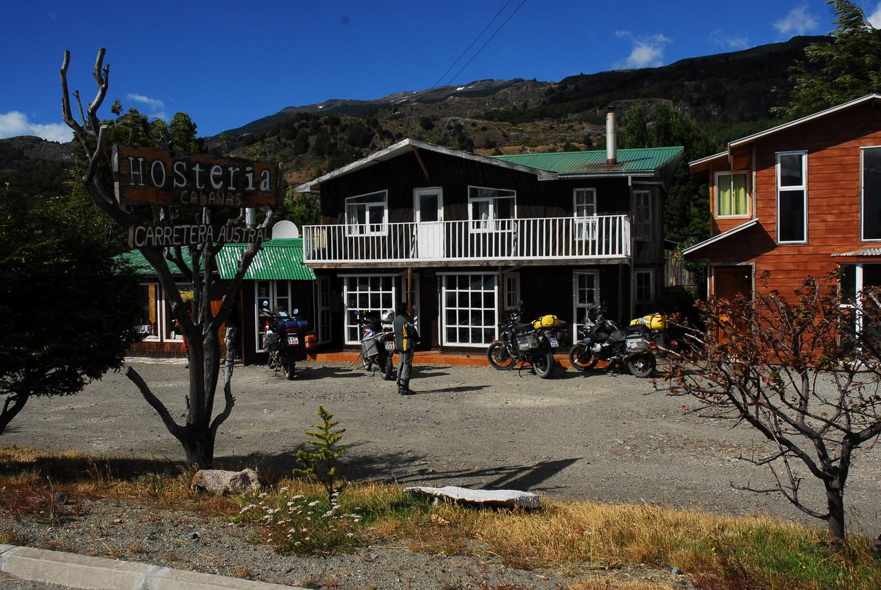 Die Hosteria Carreterra Austral in Puerto Tranquilo