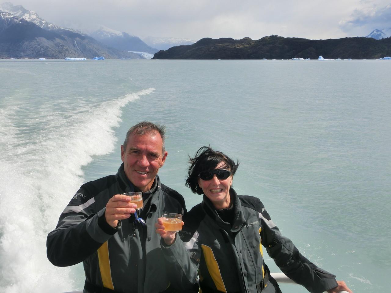 Whiskey on Patagonian Ice