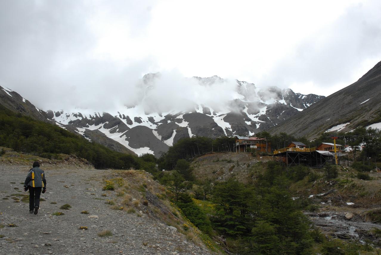 ... bis zur Bergstation ...