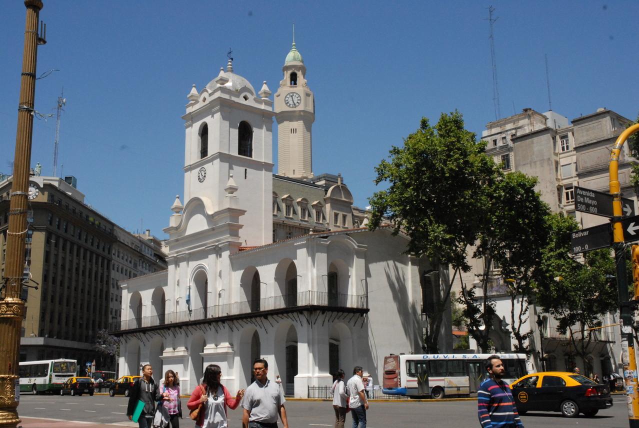 Der Cabildo, der frühere Sitz des Rates von Buenos Aires