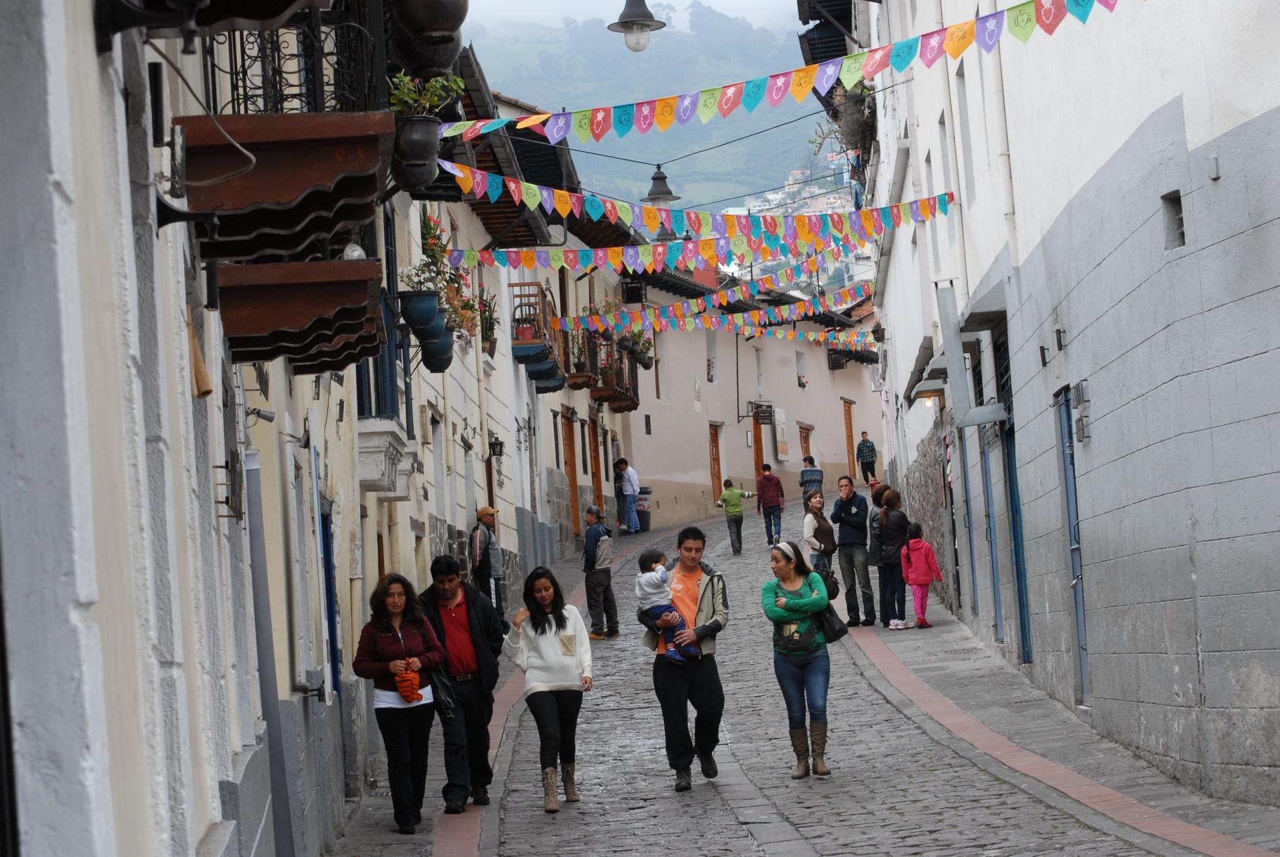 Die Straße und die Häuser wurden die letzten Jahre schön restauriert ...
