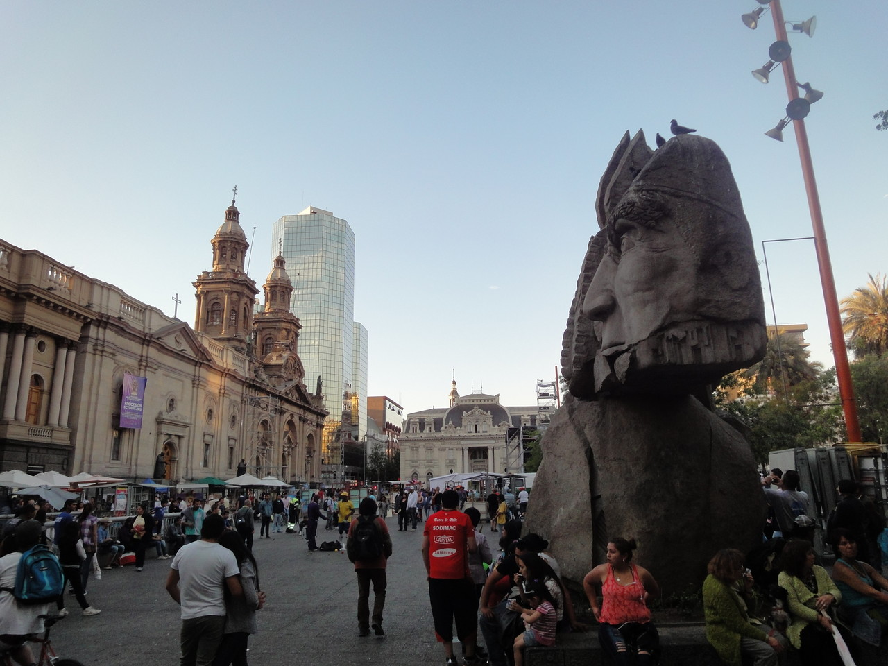 In der Innenstadt von Santiago
