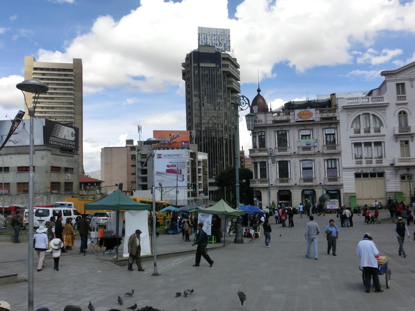 ... am Plaza San Franzisco